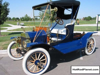 1912 Ford Model T Commercial Runabout Blue Front