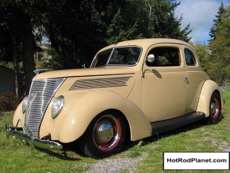 1937 Ford Five Window Coupe Tan Front