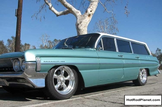 1961, Oldsmobile, Dynamic, 88, Wagon, Teal, Turquoise, Front