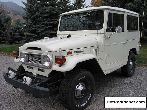 1974, Toyota, Land, Cruiser, FJ, 40, 4x4, Front, Right, White